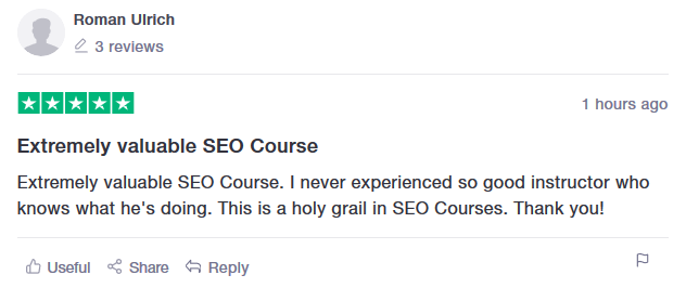 SEO Course Academy Review
